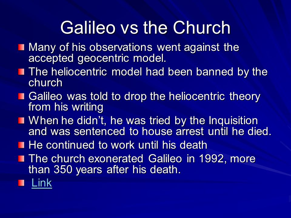 galileo church v hero essay Since you are reading this, you have probably read adam gopnik's recent essay- review about galileo galilei in the new yorker you might gopnik is right that the church could tolerate a large amount of copernican science, especially when it was useful for things like making calendars this is a key.