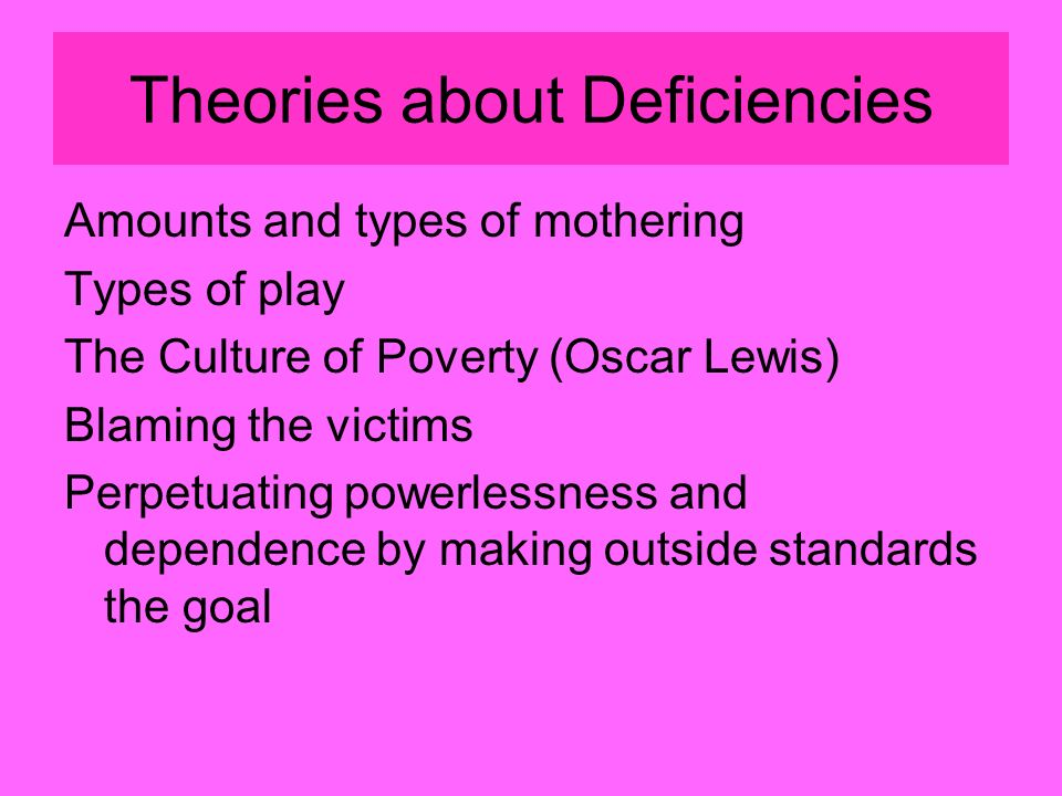 culture and the individual ppt  16 theories about deficiencies
