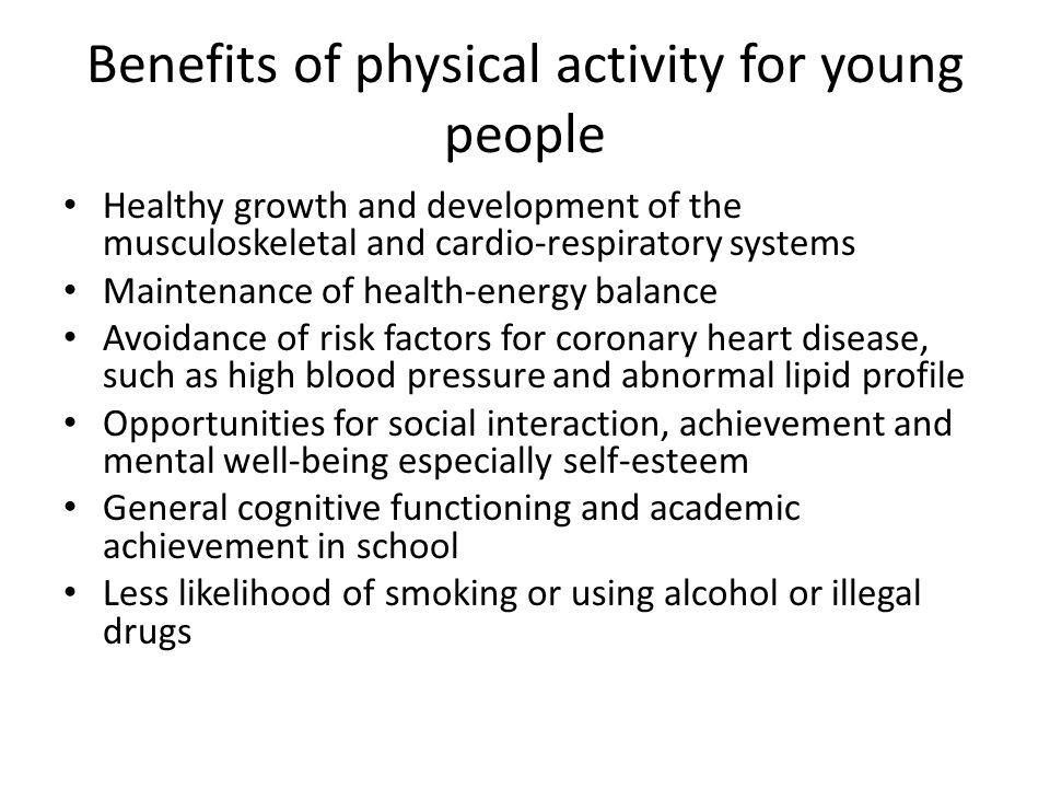 the benefits of physical activity for