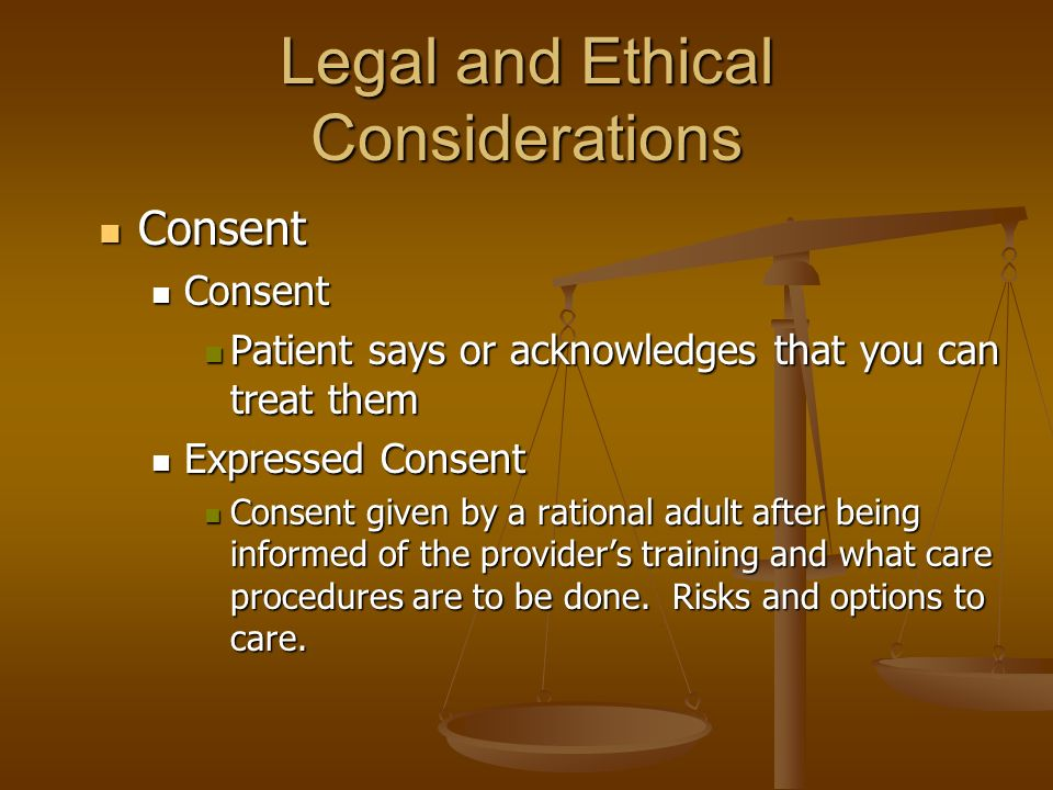 legal and ethical considerations In addition to imposing a legal mandate, the law can inform ethical  considerations about how health care professionals should respond to human  trafficking.