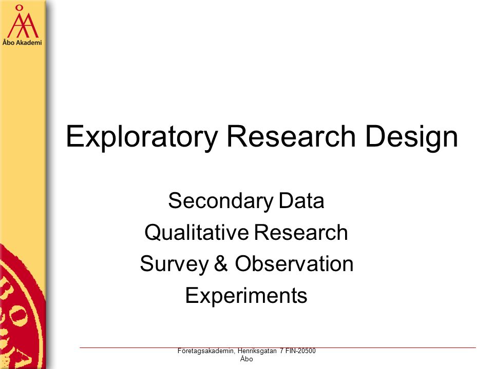 Research design exploratory