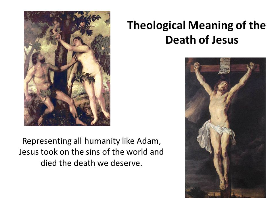 the spiritual significance and symbolism of the death of jesus The jewish tabernacle and its symbolism: the furniture,  that is why at jesus' death,  that these three articles have their most profound significance.
