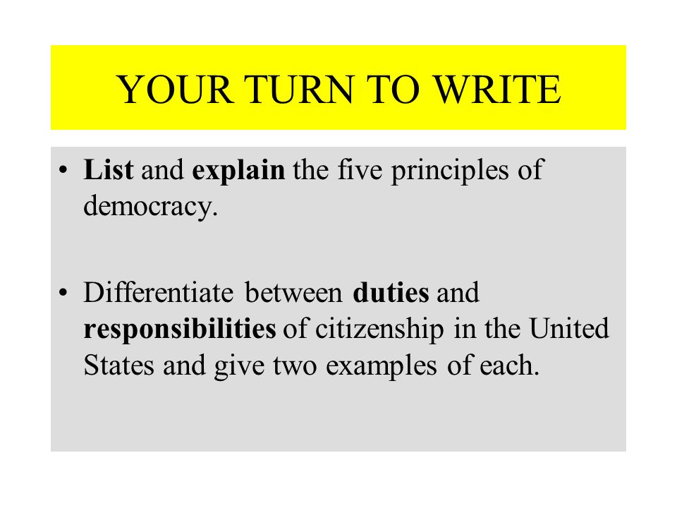 principles of democracy essay Democracy is a new thing in the world well-developed forms of it have been in practice less than a century we are still learning what it is and how to operate it.