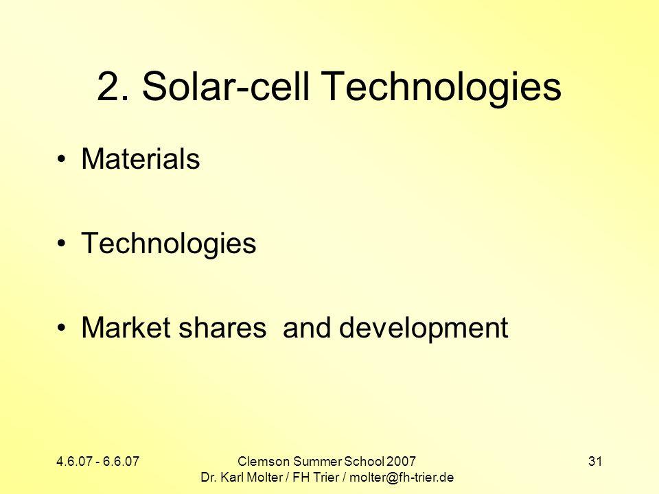 2. Solar-cell Technologies