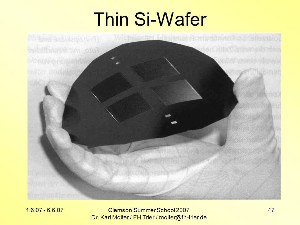 Dr. Karl Molter / FH Trier / molter@fh-trier.de