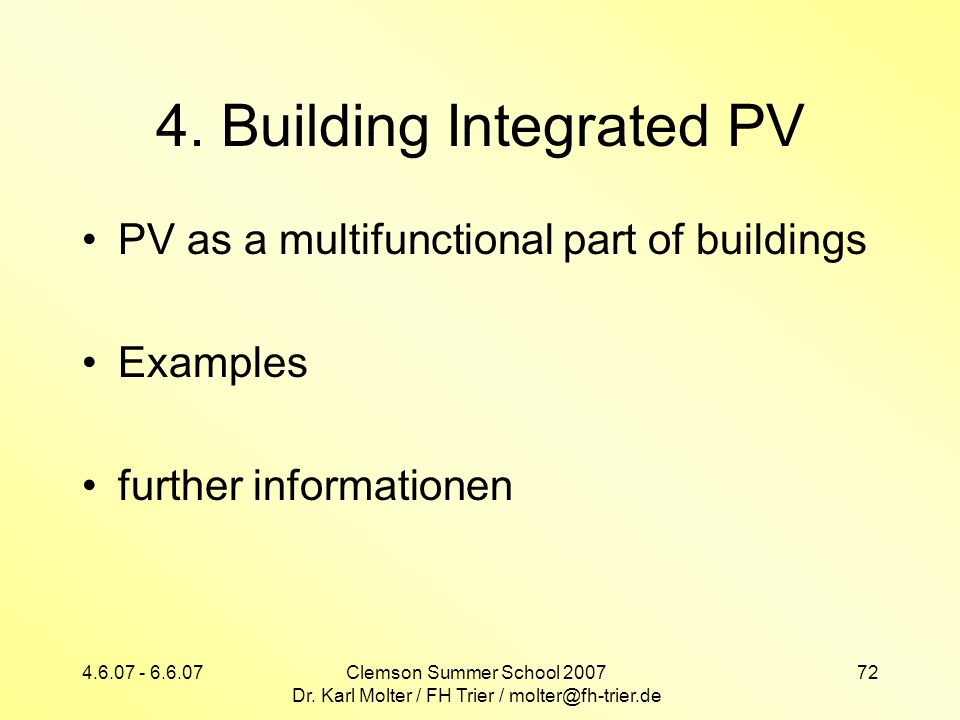 4. Building Integrated PV