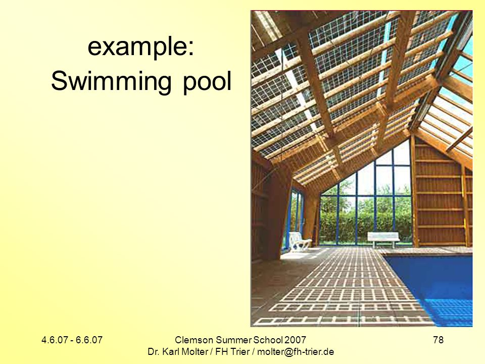 example: Swimming pool