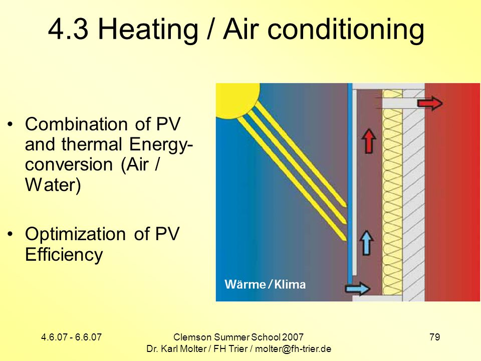 4.3 Heating / Air conditioning