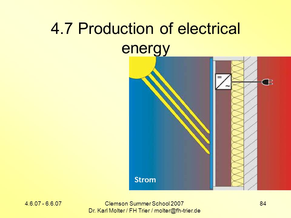4.7 Production of electrical energy