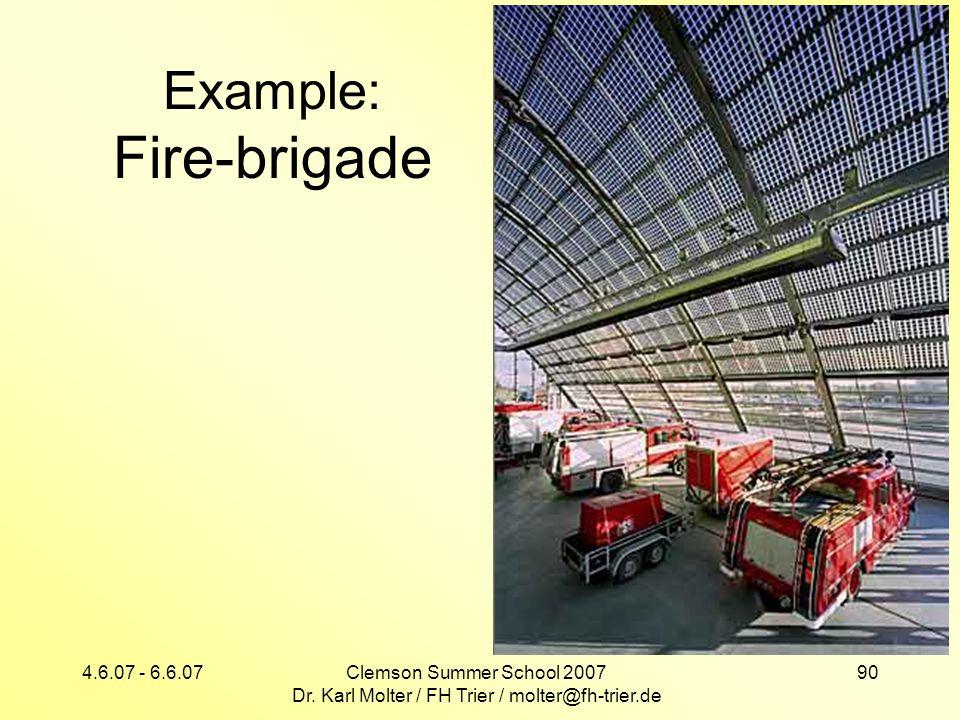 Example: Fire-brigade