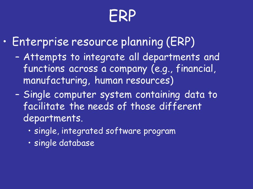 About Navy ERP