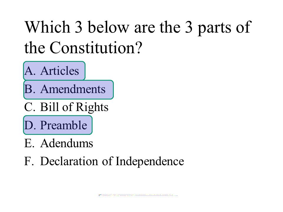 the distinct parts of the declaration of independence Very distinct parts to  as a matter if fact as we moved past the declaration into.