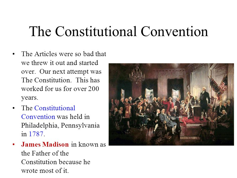a discussion of the constitutional convention in the united states The united states constitutional convention of philadelphia, pennsylvania 1787.