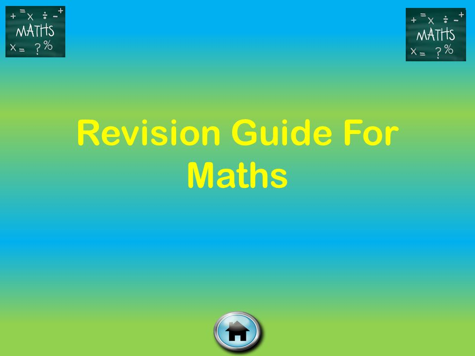 Revision Guide For Maths