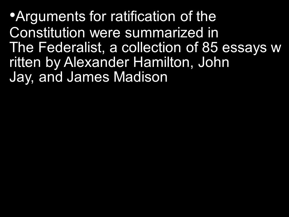 Arguments for ratification of the