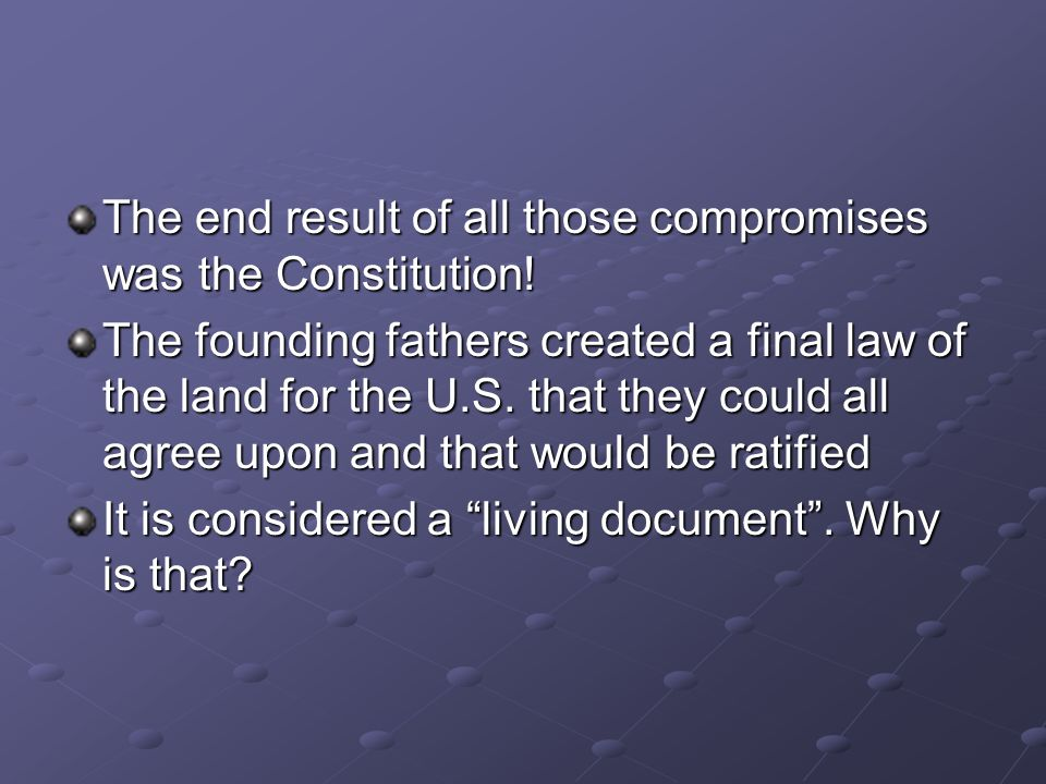 why did the founding fathers create
