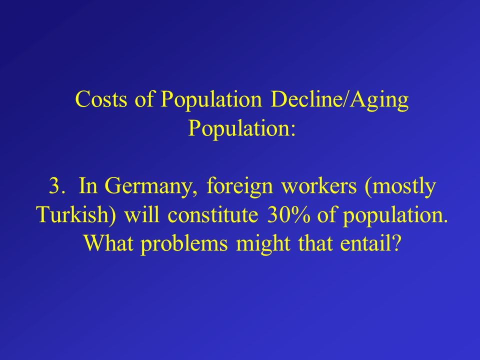 Does an aging population cause problems