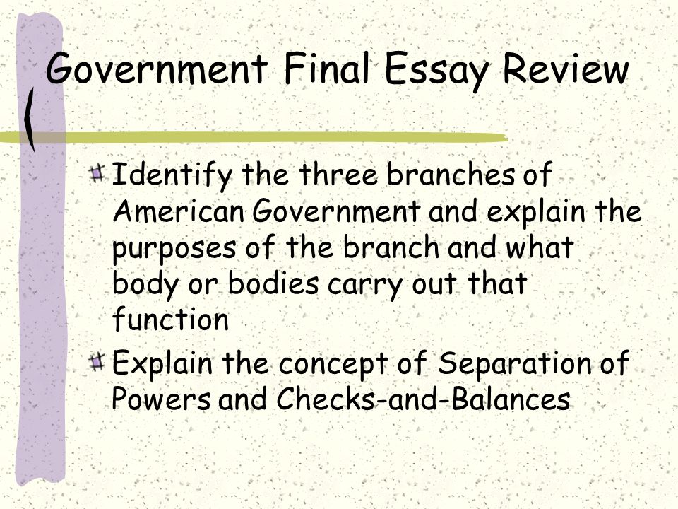 Essay Topics For Research Paper  Example Of An Essay Paper also How To Write Essay Papers How Effective Are Checks And Balances Essay Essay About Learning English Language