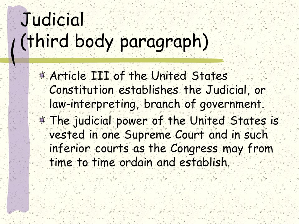 government separation of powers essay