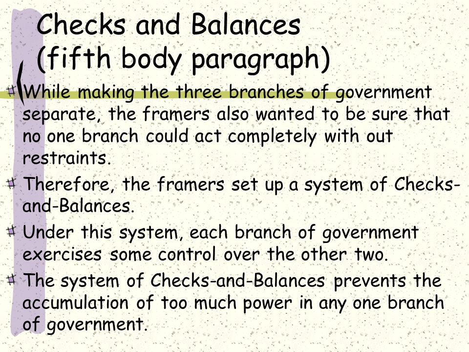 Essay About Three Branches of Government