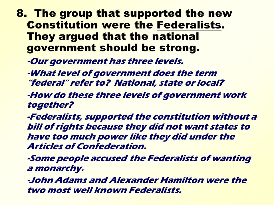 """what group of essays supported passage of the constitution With the constitution needing approval with a series of essays under the pseudonym """"publius,"""" arguing that had to wait for later passage of the."""