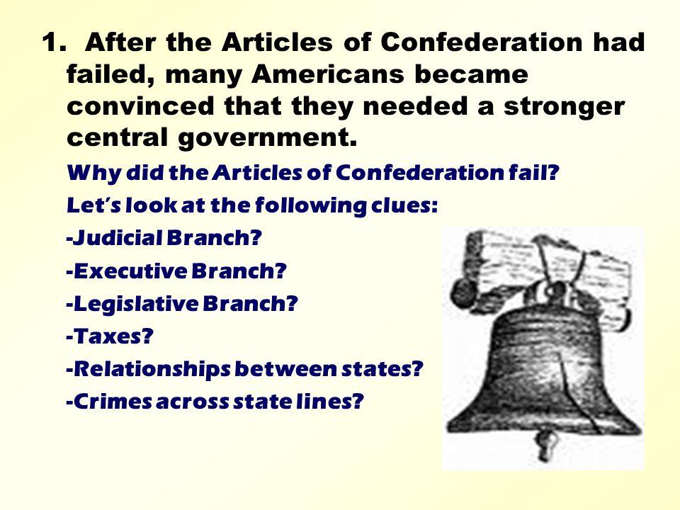 why the articles of confederation failed essay Articles of confederation  ben franklin wrote the country's the articles of confederation essay services  essay on why the articles of confederation failed.