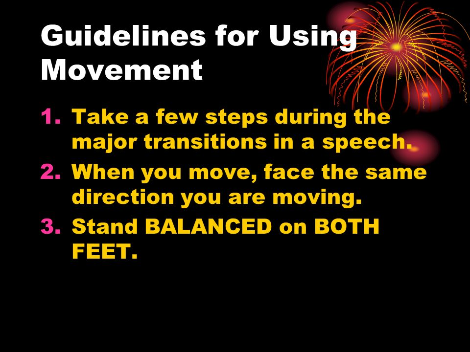Guidelines for Using Movement