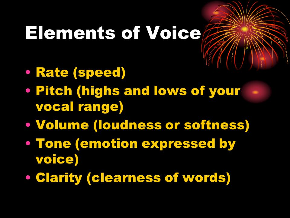 Elements of Voice Rate (speed)