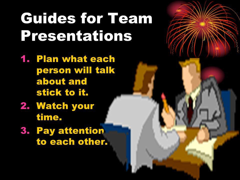 Guides for Team Presentations