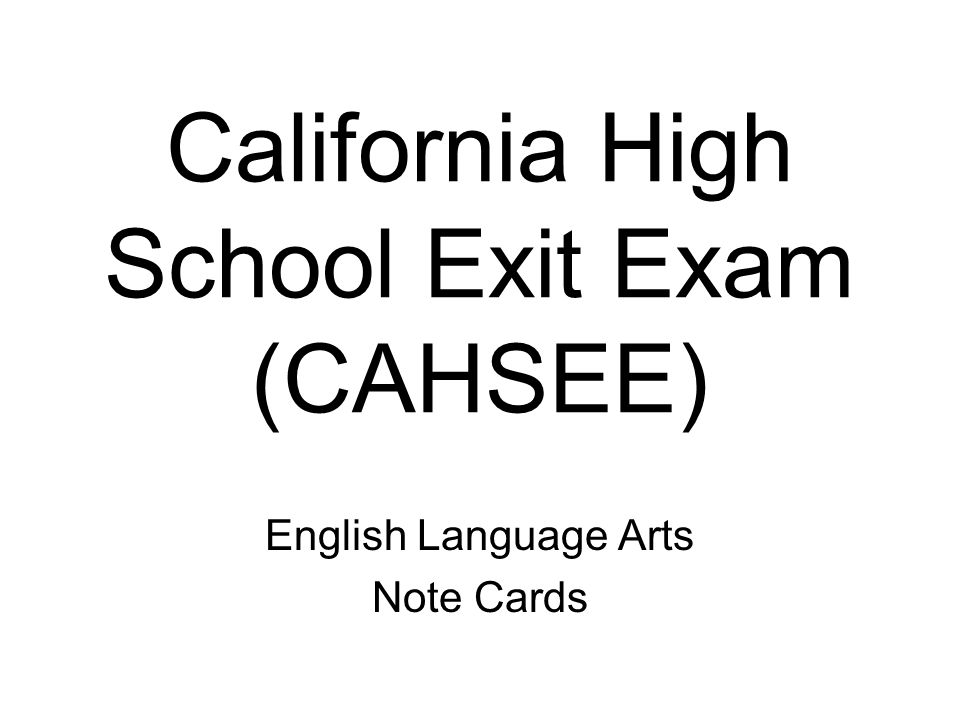 california high school exit exams Eighteen years after lawmakers agreed that california high school students should prove their skills on a final exam before earning diplomas, gov jerry.