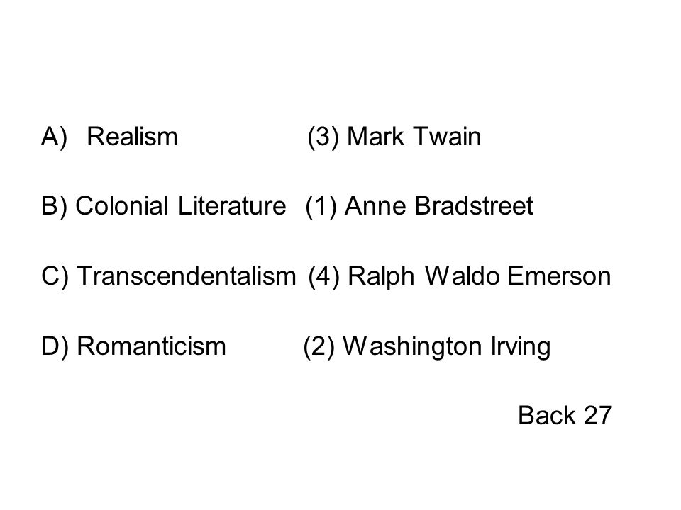 thesis statements on transcendentalism