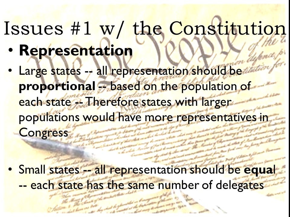 Issues #1 w/ the Constitution