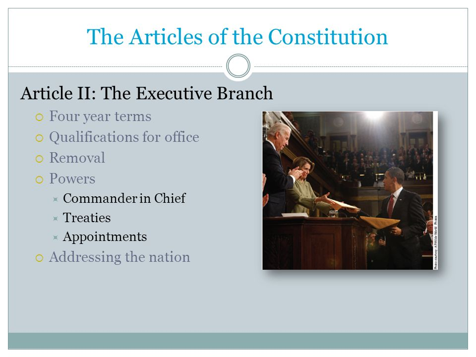 The Articles of the Constitution