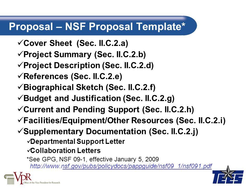 proposal  u2013 nsf proposal template