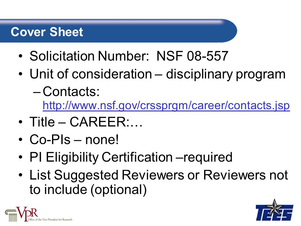 Proposal Nsf Proposal Template Ppt Video Online Download