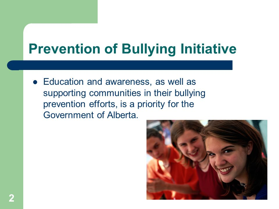 Prevention of Bullying Initiative