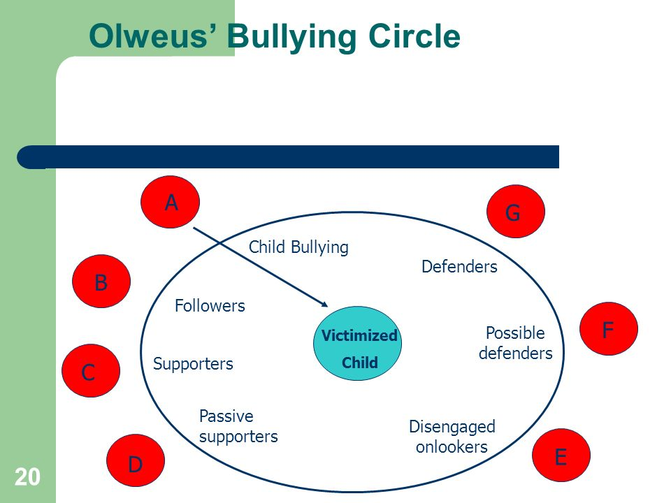 Olweus' Bullying Circle