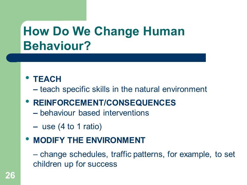 How Do We Change Human Behaviour