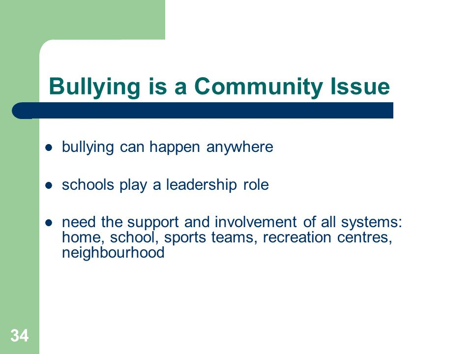 Bullying is a Community Issue