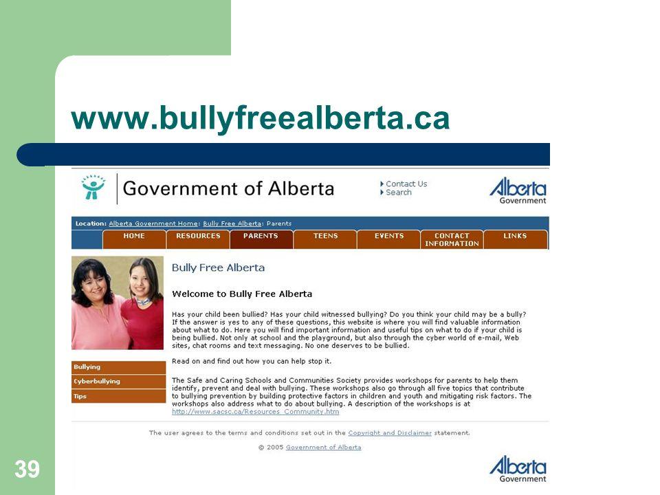 www.bullyfreealberta.ca