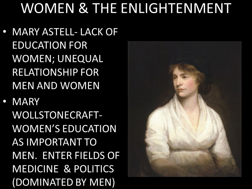WOMEN & THE ENLIGHTENMENT