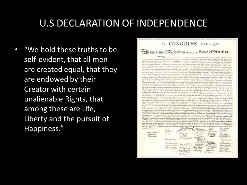 U.S DECLARATION OF INDEPENDENCE
