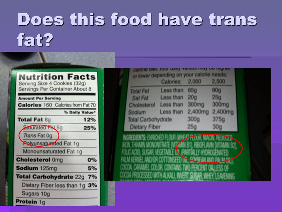 Does this food have trans fat