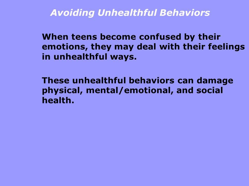 Avoiding Unhealthful Behaviors