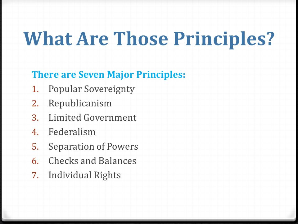 Major Principles of the Constitution - ppt video online ...