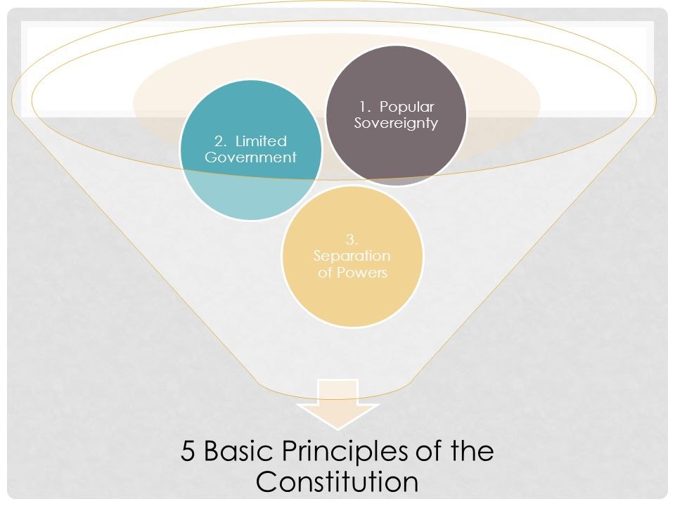 5 Basic Principles of the Constitution