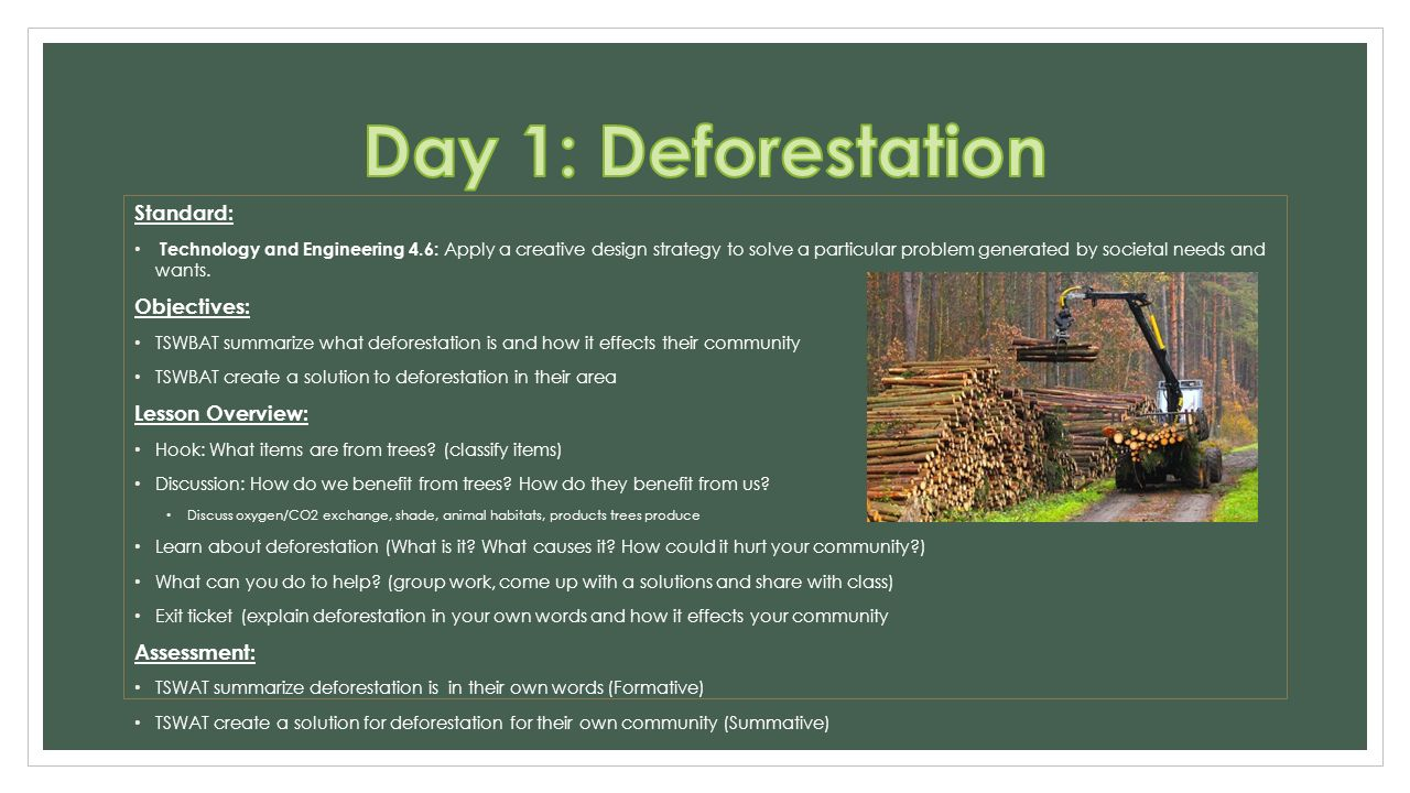 an overview of the causes and effects of deforestation Deforestation has had variable effects on litter decomposition rates,  following an overview  among the major causes of deforestation in this period were (1).
