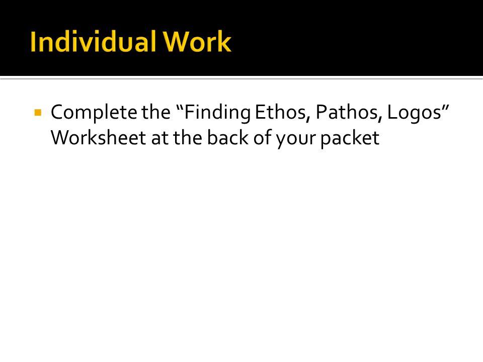 Rhetorical Triangle ppt video online download – Ethos Pathos Logos Worksheet