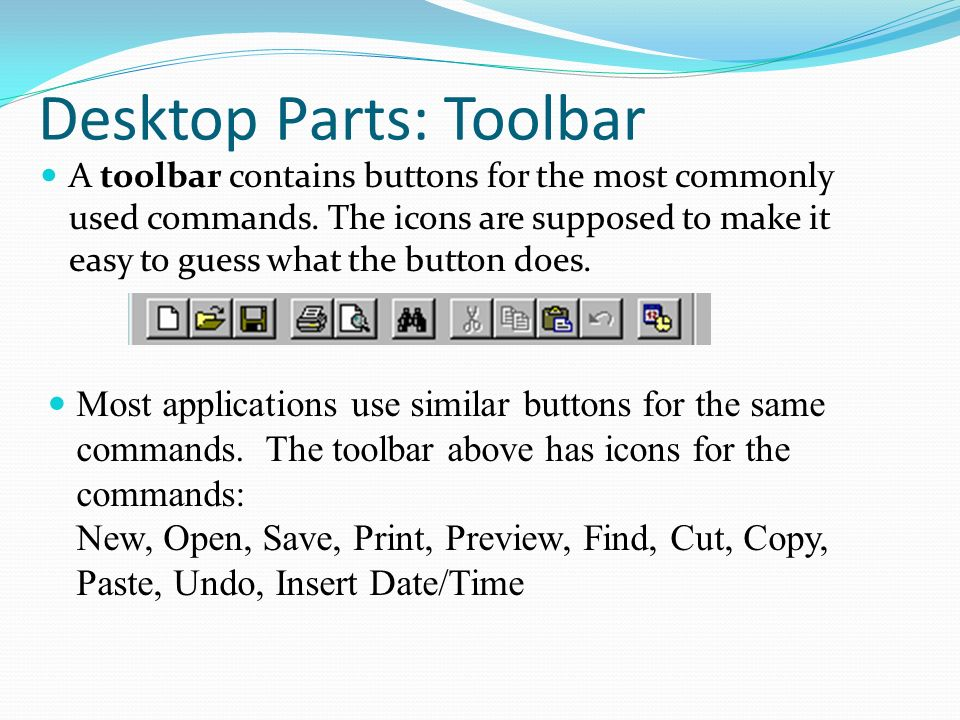 how to show time and date on toolbar