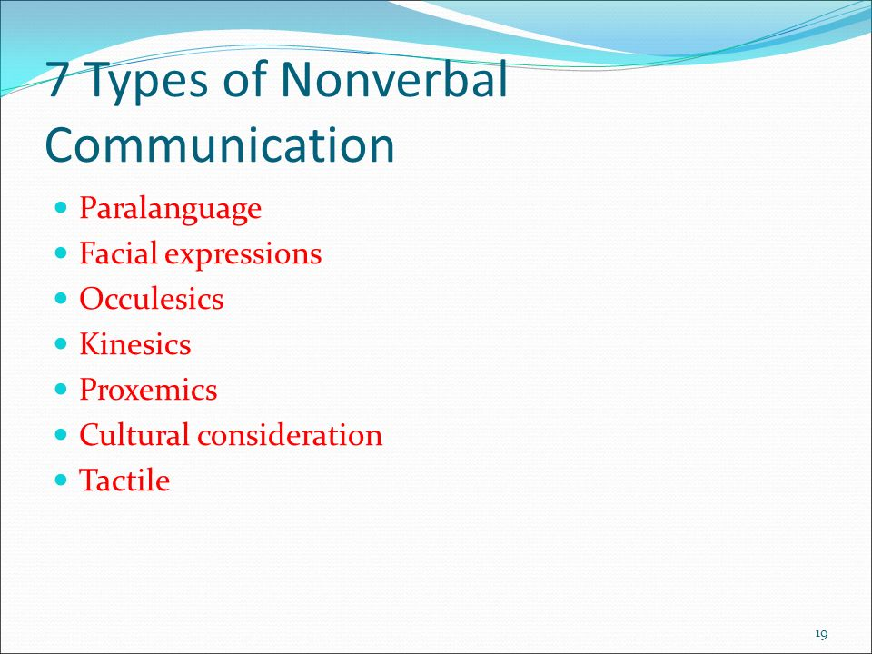 Types of paralinguistic communications